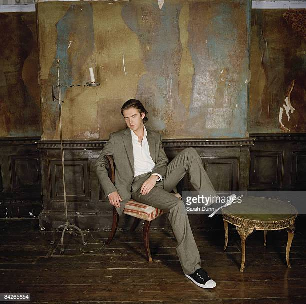 Actor Dan Stevens poses for a portrait shoot in London for Glamour magazine on May 22 2007