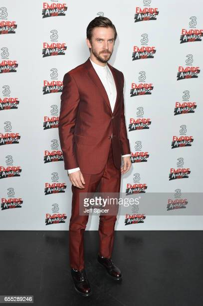 Actor Dan Stevens poses in the winners room at the THREE Empire awards at The Roundhouse on March 19 2017 in London England