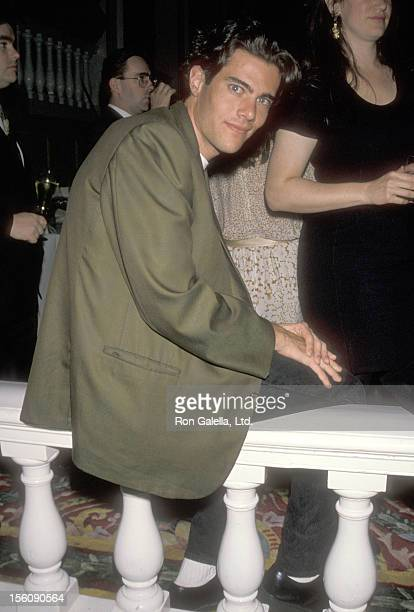 Actor Dana Ashbrook attends Helen Hayes' 90th Birthday Celebration on October 22 1990 at The Plaza Hotel in New York City New York