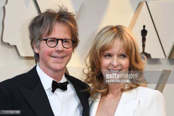 US actor Dana Carvey and his wife Paula Zwagerman arrive for the 91st Annual Academy Awards at the Dolby Theatre in Hollywood California on February...