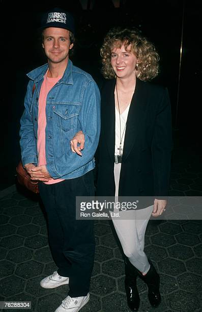 Actor Dana Carvey and wife Paula Swaggerman attending cast party for Saturday Night Live on September 29 1990 at Tavern on the Green in New York City...