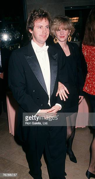 Actor Dana Carvey and wife Paula Swaggerman attending Fire and Ice Ball on December 4 1991 at The Beverly Hilton Hotel in Beverly Hills California