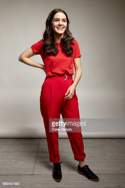 Actor Dana Melanie from the film Wild Nights With Emily poses for a portrait in the Getty Images Portrait Studio Powered by Pizza Hut at the 2018...