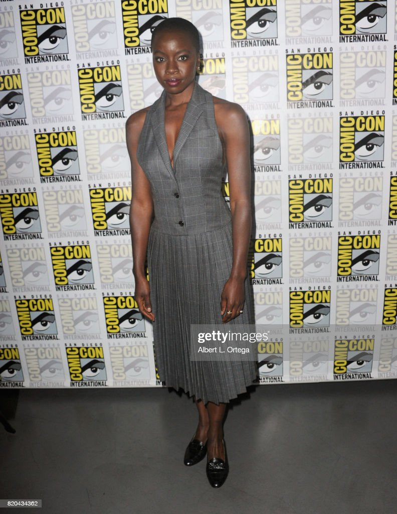 Actor Danai Gurira attends Comic-Con International 2017 AMC's 'The Walking Dead' panel at San Diego Convention Center on July 21, 2017 in San Diego, California.