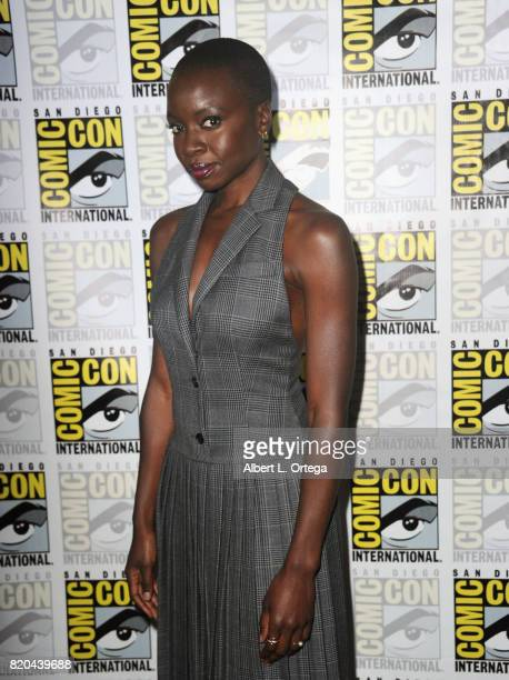 Actor Danai Gurira attends ComicCon International 2017 AMC's 'The Walking Dead' panel at San Diego Convention Center on July 21 2017 in San Diego...