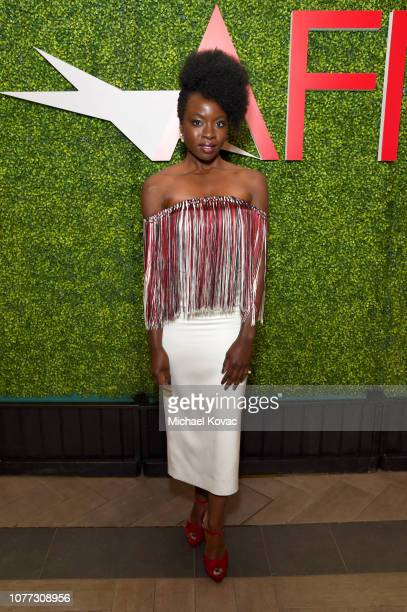 Actor Danai Gurira attends the 19th Annual AFI Awards at Four Seasons Hotel Los Angeles at Beverly Hills on January 4 2019 in Los Angeles California