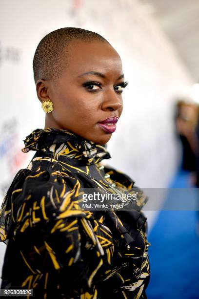 Actor Danai Gurira attends the 2018 Film Independent Spirit Awards on March 3 2018 in Santa Monica California
