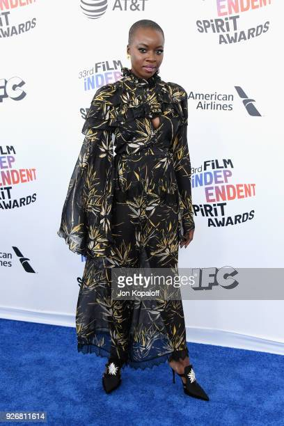 Actor Danai Gurira attends the 2018 Film Independent Spirit Awards on March 3, 2018 in Santa Monica, California.