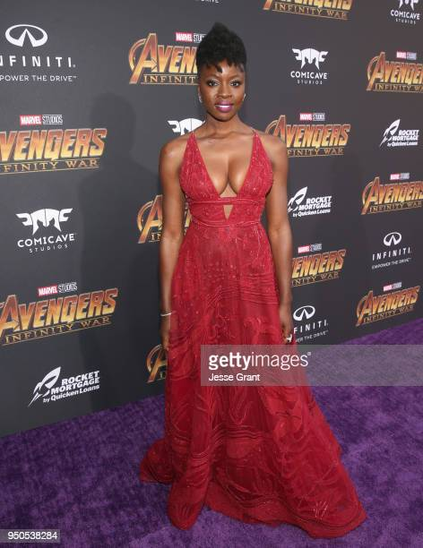 Actor Danai Gurira attends the Los Angeles Global Premiere for Marvel Studios' Avengers Infinity War on April 23 2018 in Hollywood California