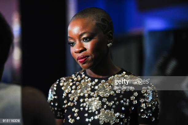 Actor Danai Gurira attends the Toronto Premiere of 'Black Panther' at Scotiabank Theatre on February 6 2018 in Toronto Canada