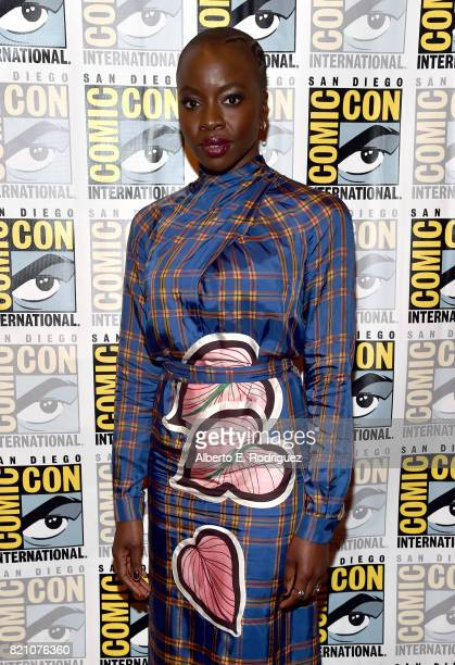 Actor Danai Gurira from Marvel Studios' 'Black Panther' at the San Diego ComicCon International 2017 Marvel Studios Panel in Hall H on July 22 2017...