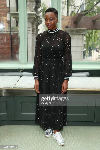 Actor Danai Gurira poses backstage during the Tory Burch Spring Summer 2019 Fashion Show at Cooper Hewitt Smithsonian Design Museum on September 7...