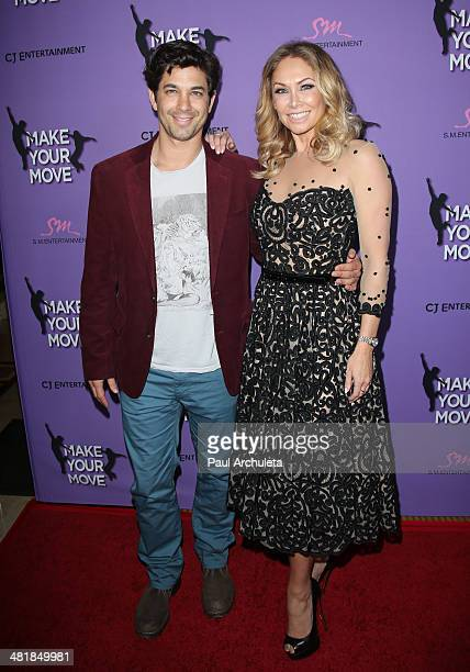 Actor / Dancer Adam Garcia and Dancer Kym Johnson attend the premiere of 'Make Your Move' at the Pacific Theaters at the Grove on March 31 2014 in...