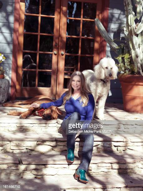 Actor dancer and widower to actor Patrick Swayze Lisa Niemi Swayze is photographed at her home for Paris Match on January 4 2013 in San Fernando...