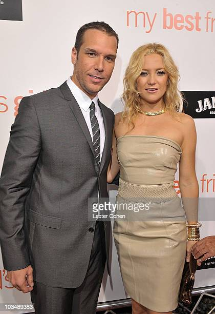 Actor Dane Cook and actress Kate Hudsonarrive on the red carpet of the world premiere of My Best Friend's Girl at The Arclight Hollywood on September...