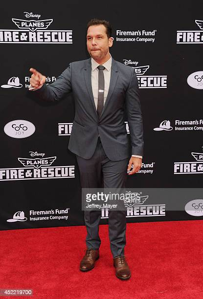 Actor Dane Cook arrives at the Los Angeles premiere of Disney's 'Planes Fire Rescue' at the El Capitan Theatre on July 15 2014 in Hollywood California
