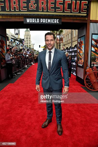 Actor Dane Cook attends World Premiere Of Disney's 'Planes Fire Rescue' at the El Capitan Theatre on July 15 2014 in Hollywood California