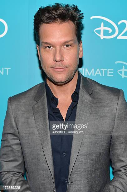 Actor Dane Cook of Planes Fire Rescue attends Art and Imagination Animation at The Walt Disney Studios presentation at Disney's D23 Expo held at the...