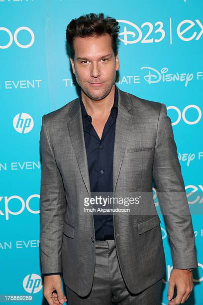 Actor Dane Cook of 'Planes Fire Rescue' attends 'Art and Imagination Animation at The Walt Disney Studios' presentation at Disney's D23 Expo held at...