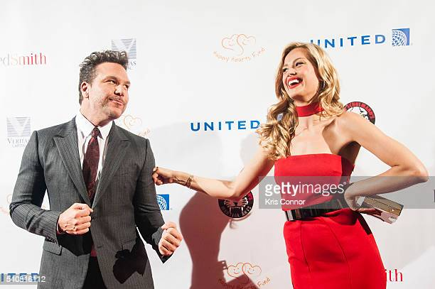 Actor Dane Cook with model and host Petra Nemcova pose a for photo during the 2016 Happy Hearts Fund Gala at Hammerstein Ballroom on June 16 2015 in...