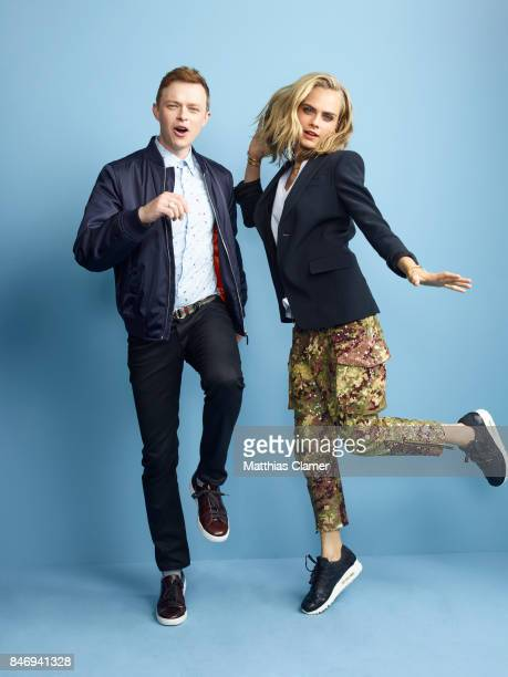 Actor Dane DeHaan and actress Cara Delevingne from 'Valerian and the City of a Thousand Planets' are photographed for Entertainment Weekly Magazine...