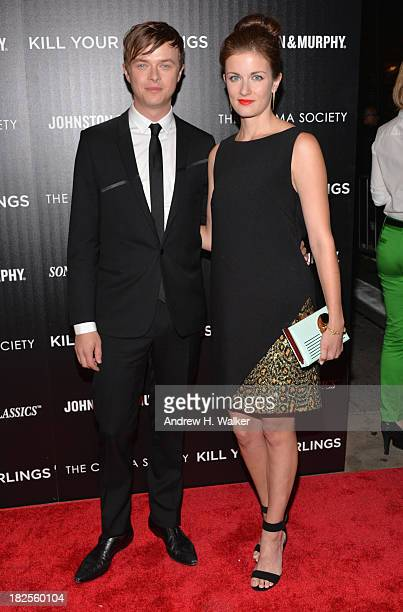 Actor Dane DeHaan and Anna Wood attend The Cinema Society and Johnston Murphy screening of Sony Pictures Classics' Kill Your Darlings at Paris...