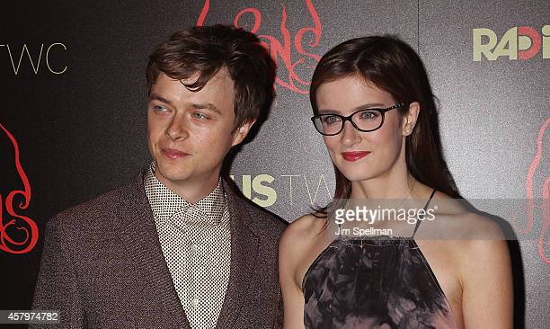 Actor Dane DeHaan and Anna Wood attend the RADiUS TWC and The Cinema Society New York Premiere of 'Horns' at Landmark's Sunshine Cinema on October 27...