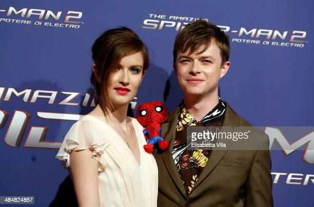 Actor Dane DeHaan and wife Anna Wood attend 'The Amazing SpiderMan 2 Rise Of Electro' Rome Premiere at The Space Moderno Cinema on April 14 2014 in...