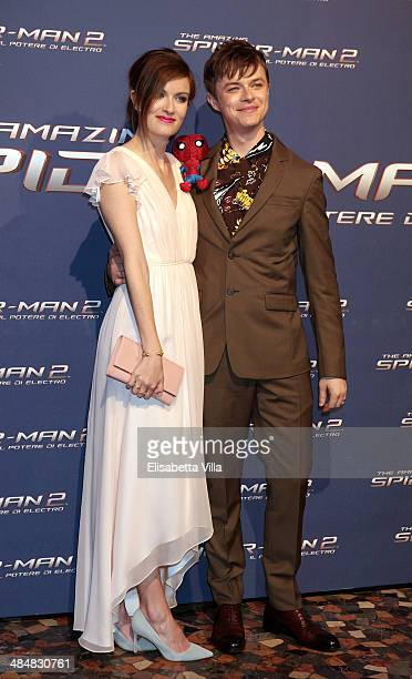 Actor Dane DeHaan and wife Anna Wood attend 'The Amazing Spider-Man 2: Rise Of Electro' Rome Premiere at The Space Moderno Cinema on April 14, 2014...