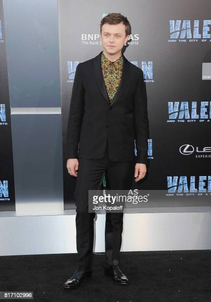 Actor Dane DeHaan arrives at the Los Angeles Premiere 'Valerian And The City Of A Thousand Planets' at TCL Chinese Theatre on July 17 2017 in...