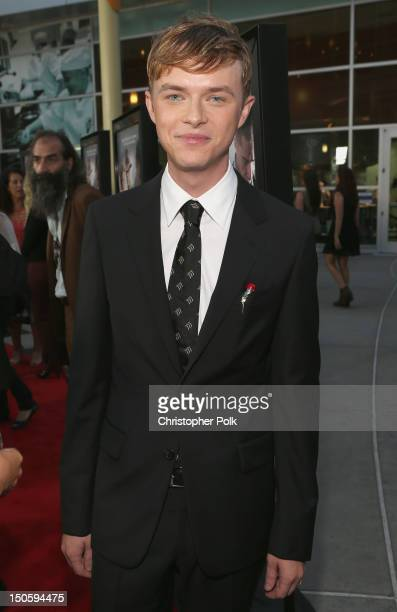 Actor Dane DeHaan arrives at the premiere of The Weinstein Company's Lawless held at ArcLight Cinemas on August 22 2012 in Hollywood California