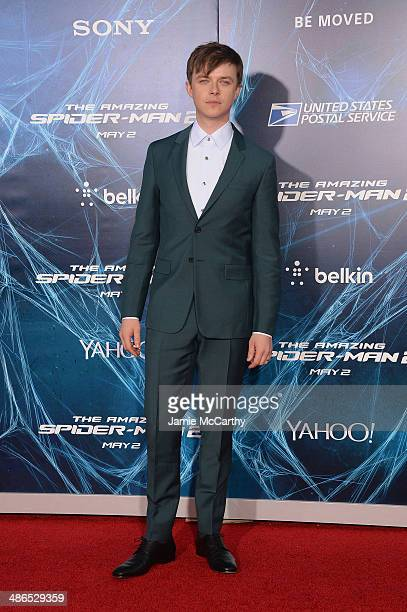 Actor Dane Dehaan attends 'The Amazing SpiderMan 2' premiere at the Ziegfeld Theater on April 24 2014 in New York City