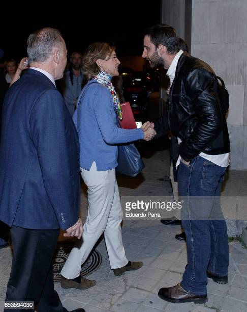 Actor Dani Rovira and Minister of agriculture Isabel Garcia Tejerina present the book 'Lllevame contigo' at Veterinary College on March 15 2017 in...