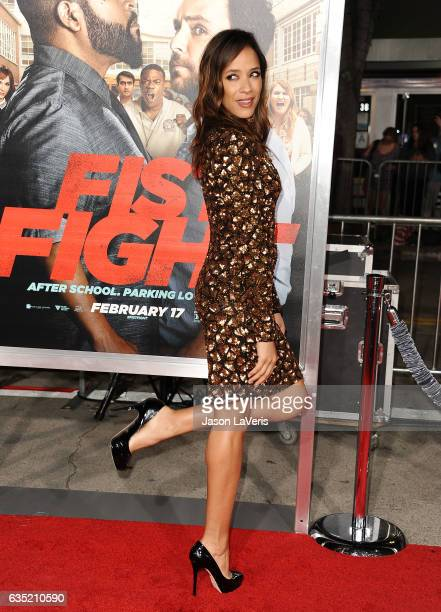 Actor Dania Ramirez attends the premiere of 'Fist Fight' at Regency Village Theatre on February 13 2017 in Westwood California