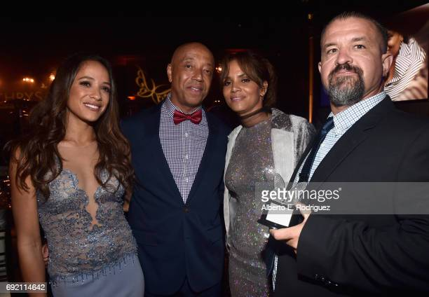 Actor Dania Ramirez Music producer Russell Simmons Actor Halle Berry and Honoree Raymond Davis at the 16th Annual Chrysalis Butterfly Ball on June 3...