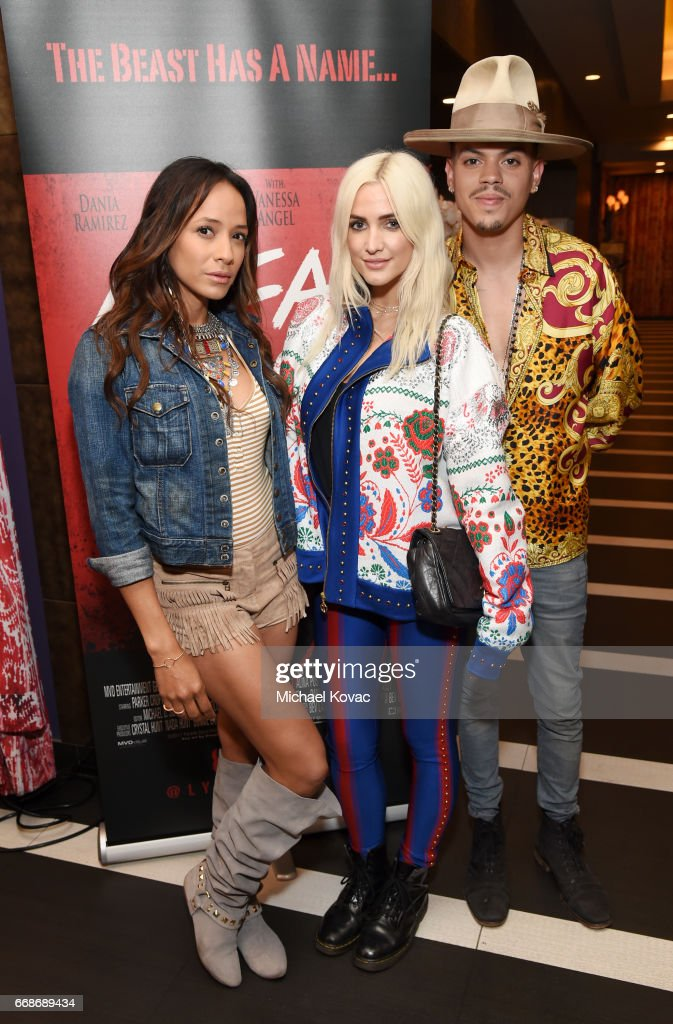 Actor Dania Ramirez, singer Ashlee Simpson, and actor Evan Ross celebrate a Toast to Summer with the NEW Limited Edition CIROC Summer Colada at the Hard Rock Hotel Palm Springs on April 14, 2017 in Palm Springs, California.