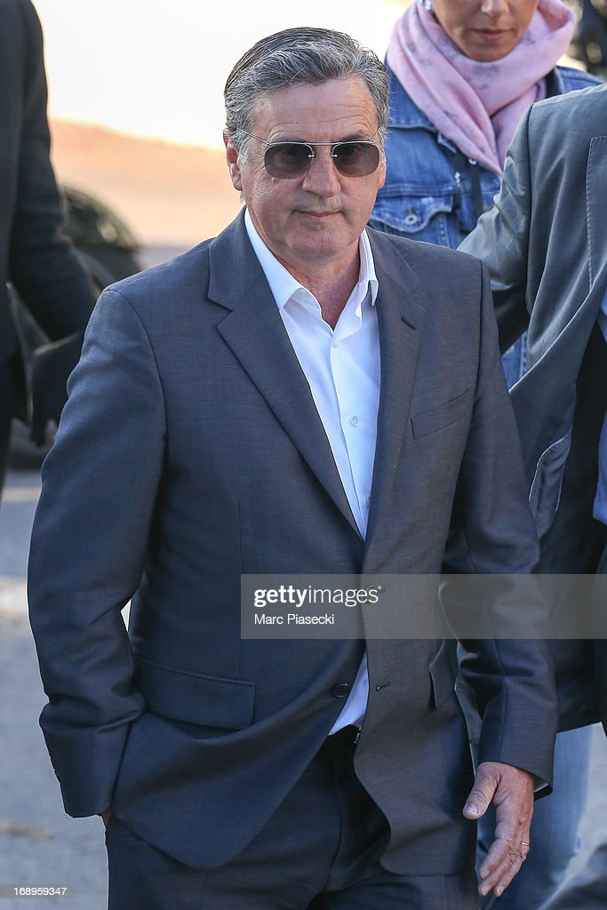 Actor Daniel Auteuil is seen leaving the 'Le Grand Journal' TV show set during the 66th annual Cannes Film Festival on May 17, 2013 in Cannes, France.