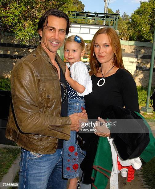 HOLLYWOOD JULY 10 Actor Daniel Bernhardt daughter Bella Bernhardt and his wife Lisa StothardBernhardt attend the Los Angeles Philharmonic and Venice...