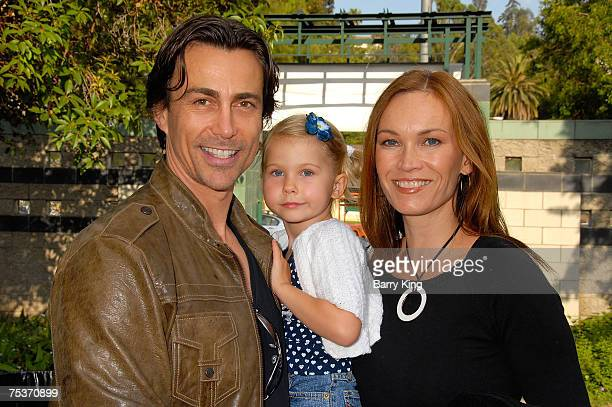 HOLLYWOOD JULY 10 Actor Daniel Bernhardt daughter Bella Bernhardt and wife Lisa StothardBernhardt attend the Los Angeles Philharmonic and Venice...