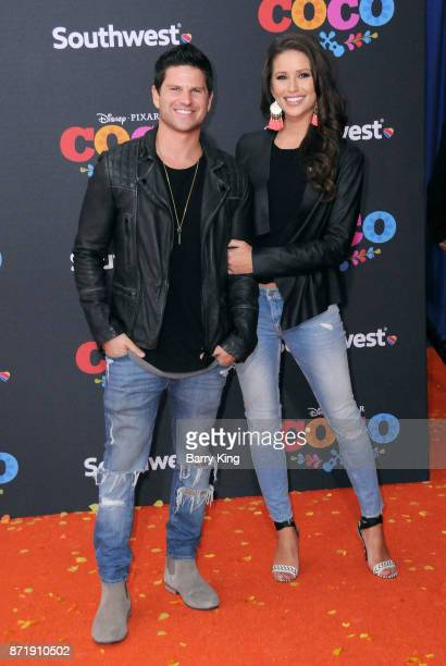 Actor Daniel Booko and wife television host Nia Sanchez attend the US Premiere of Disney Pixar's 'Coco' at El Capitan Theatre on November 8 2017 in...