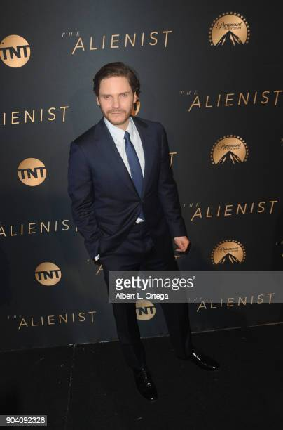 Actor Daniel Brühl arrives for the Premiere Of TNT's The Alienist held at Paramount Pictures on January 11 2018 in Los Angeles California