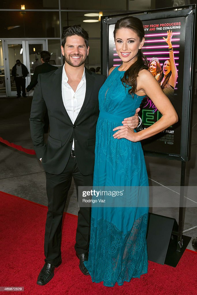 Actor Daniel Brooko (L) and model Nia Sanchez attend the 'Best Night Ever' Los Angeles Premiere at ArcLight Cinemas on January 29, 2014 in Hollywood, California.