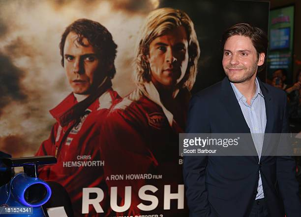 Rush 2013 film getty images actor daniel bruehl arrives at the australian premiere of rush at village cinemas on voltagebd Image collections