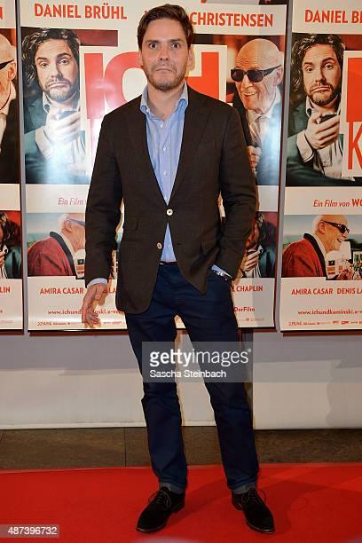 Actor Daniel Bruehl reacts during the premiere of the film 'Ich und Kaminski' at Lichtburg on September 9 2015 in Essen Germany