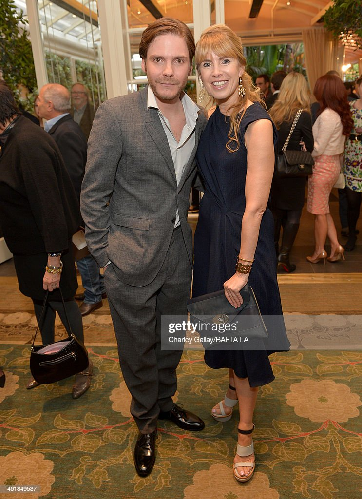 Actor Daniel Bruhl and BAFTA board member Julia Verdin attend the BAFTA LA 2014 Awards Season Tea Party at the Four Seasons Hotel Los Angeles at Beverly Hills on January 11, 2014 in Beverly Hills, California.