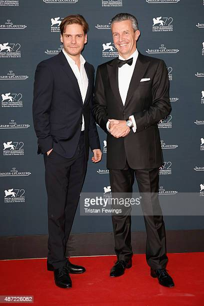 Actor Daniel Bruhl and JaegerLeCoultre Ceo Daniel Riedo attend the JaegerLeCoultre gala event celebrating 10 years of partnership with La Mostra...