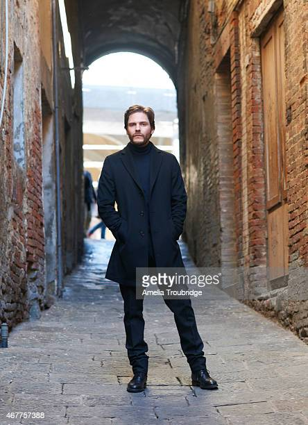 Actor Daniel Bruhl on set during the making of Face of an Angel directed by Michael Winterbottom Photographed on November 23 2014 in Livorno Italy