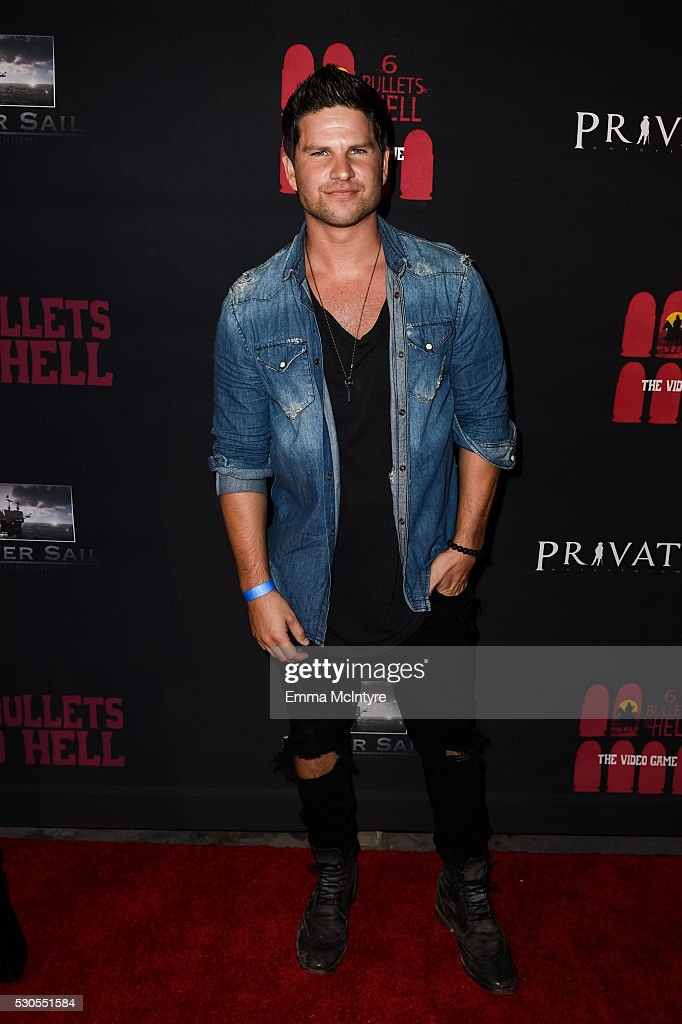 Actor Daniel Bucco attends the launch of '6 Bullets to Hell' on May 10, 2016 in Los Angeles, California.