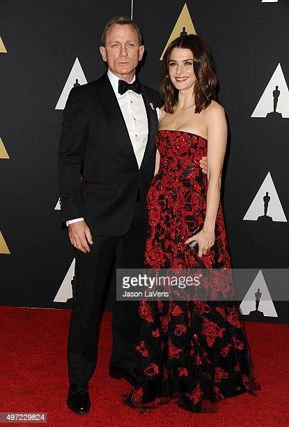 Actor Daniel Craig and actress Rachel Weisz attend the 7th annual Governors Awards at The Ray Dolby Ballroom at Hollywood & Highland Center on...