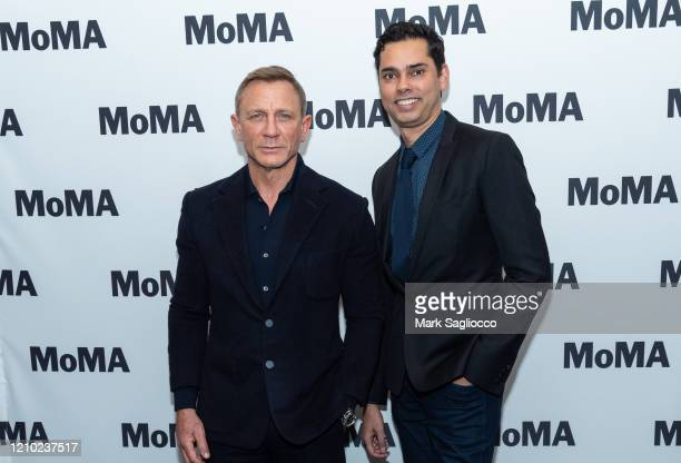 Actor Daniel Craig and Department of Film Chief Curator Rajendra Roy attend The Museum of Modern Art's Screening of Casino Royale at MOMA on March 03...